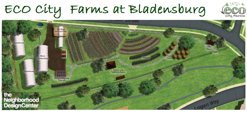ECO City Farms at Bladensburg, MD site plan