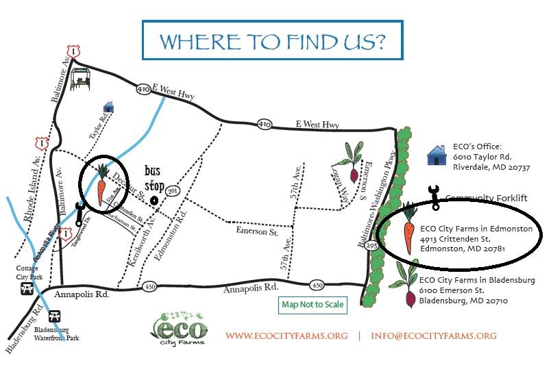 How to Find Us - Edmonston focus